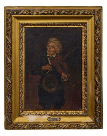 A Fiddle Player, Oil Painting (Early 20th Century), 1900's!!