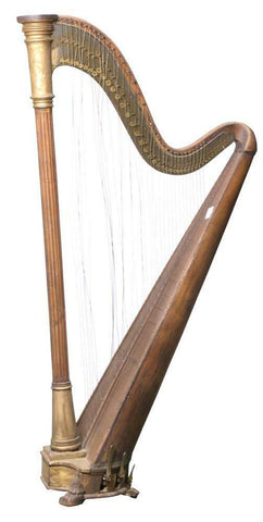 Amazing Gorgeous Victorian Harp, 19th century ( 1800s )!!