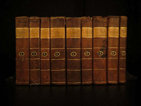 Antique Books, Rare, 1790 1st Ed. James Bruce Africa Voyages of Ethiopia, Egypt, 18th C - Old Europe Antique Home Furnishings
