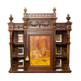 Antique Cabinet, Mirrored French Neoclassical Revival Carved Walnut Hand Painted!! - Old Europe Antique Home Furnishings