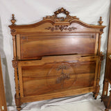 Antique Bed & Stand, Night / Side Table French Louis XVI Style, 19-20th C. - Old Europe Antique Home Furnishings