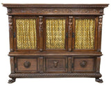 Antique Bookcase, Italian Renaissance Revival Carved Walnut, 19th C., 1800s!! - Old Europe Antique Home Furnishings