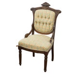 Antique Chairs, Dining, American Victorian Button-Tufted, Six 1800s, Gorgeous - Old Europe Antique Home Furnishings