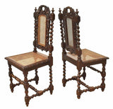 Antique Dining Chairs, French Henri II Style Carved Oak, Set of 12, 1800's, Handsome!! - Old Europe Antique Home Furnishings