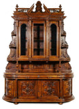 Antique Server, French Renaissance Revival Carved Walnut,1800s, Gorgeous!! - Old Europe Antique Home Furnishings
