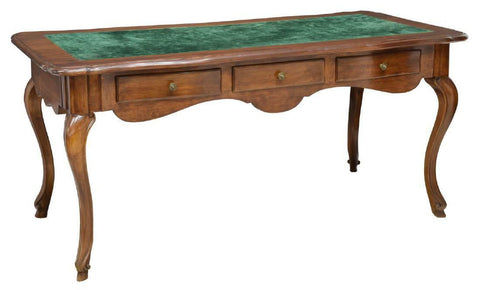 Gorgeous Louis XV Style Bureau Plat Library or Console Table, 19th Century (1800s)!! - Old Europe Antique Home Furnishings