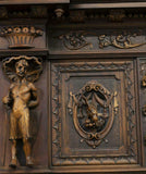 Antique Cupboard / Sideboard, French Renaissance Revival Figural,19th Century ( 1800s ), Gorgeous!!! - Old Europe Antique Home Furnishings