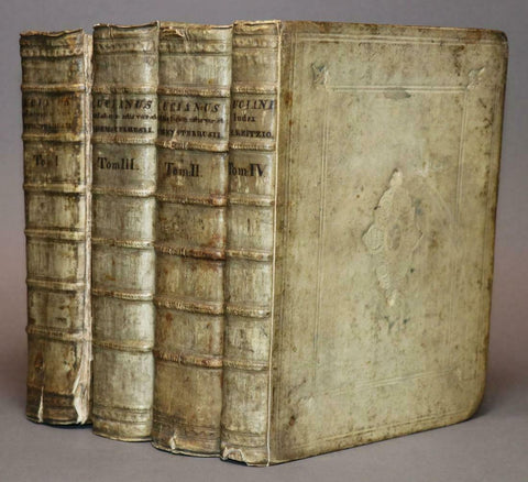 Antique Books, Lucian, Quarto Set of Books, 18th Century ( 1743 )!! - Old Europe Antique Home Furnishings