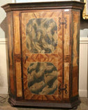Cabinet, Antique Wedding, Austrian, Painted ,18th C., 1700's, Beautiful Antique! - Old Europe Antique Home Furnishings