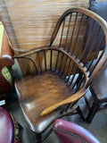 Chairs, English Windsor Style (6) Two Arm Chairs, Four Side Chairs, Vintage!! - Old Europe Antique Home Furnishings