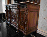 Antique Cabinet, China, Server, Continental Victorian, 1800s, Gorgeous! - Old Europe Antique Home Furnishings