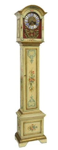 "Clock, Longcase, Paint Decorated, Chiming, ""Grandmother"", Parcel, 1900's!! - Old Europe Antique Home Furnishings"
