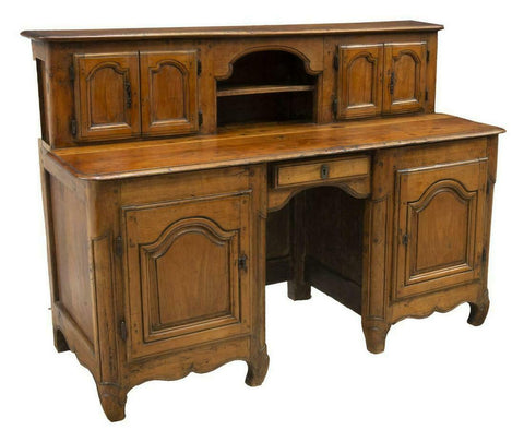 Antique Desk, Writing, Rare Fruitwood Bureau A Gradin, Beautiful!! - Old Europe Antique Home Furnishings
