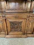 Antique Sideboard / Server, French Buffet deux Corps, 19th C. ( 1800s ) , Gorgeous!! - Old Europe Antique Home Furnishings