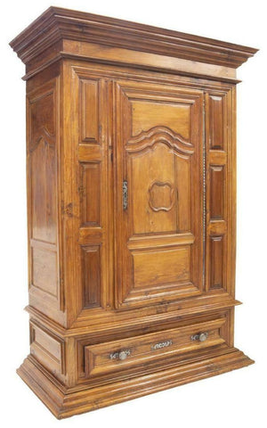 HANDSOME FRENCH LOUIS XIV STYLE BONNETIERE / ARMOIRE, 18TH Century ( 1700s ) - Old Europe Antique Home Furnishings