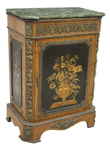 GORGEOUS FRENCH STYLE MARBLE-TOP SIDEBOARD CABINET!! - Old Europe Antique Home Furnishings