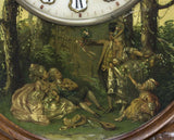 STRIKING FRENCH TIME & STRIKE PAINTED WALL CLOCK, 19TH Century ( 1800s ) - Old Europe Antique Home Furnishings
