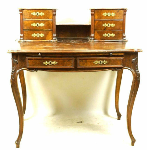 CHARMING FRENCH DESK Height: 42 in. by Width: 40 in. by Depth: 27 - Old Europe Antique Home Furnishings