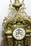 Gorgeous French Louis XV Style Gilt Bronze Clock - Old Europe Antique Home Furnishings