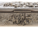 Gorgeous Danish Repousse Figural Cigarette Box,Silver Plate!!! - Old Europe Antique Home Furnishings