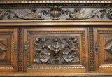 Antique Sideboard, Italian, Renaissance Revival, Stunning, Wood Carved, Walnut (1800s)! - Old Europe Antique Home Furnishings