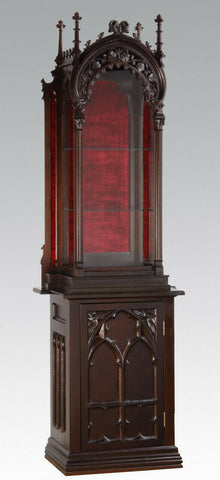 Gorgeous Gothic Revival Walnut Vitrine, 19th Century ( 1800s )!!! - Old Europe Antique Home Furnishings