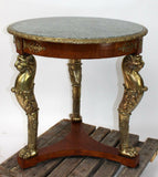Table, Gueridon, Vintage, French Louis XVI Bronze Mount, Early 1900s, Gorgeous! - Old Europe Antique Home Furnishings