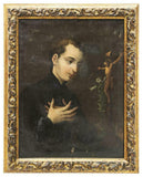 HANDSOME RELIGIOUS PAINTING, SAINT ALOYSIUS GONZAGA, 18th century ( 1700s )!! - Old Europe Antique Home Furnishings