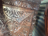 Antique Chest, Heavily Hand, Carved European, 16th / 17th Century, Handsome!! - Old Europe Antique Home Furnishings