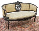 Antique Salon Set, Settee, 6 Chairs, Louis XVI Style, 1800's, Gorgeous Set!! - Old Europe Antique Home Furnishings