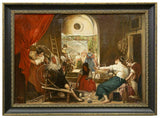 "Oil Painting ""The Spinners"" After Diego Velazquez, Vivid Colors, Gorgeous Antique!! - Old Europe Antique Home Furnishings"
