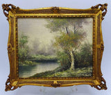 Oil Paintings on Board, Two, SGN, Landscapes, Gilt Frames, Vintage / Antique!! - Old Europe Antique Home Furnishings