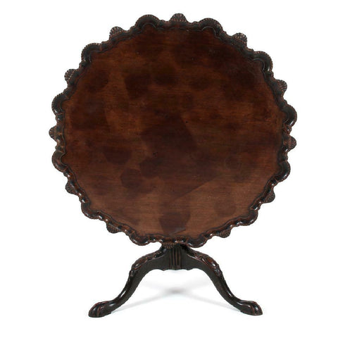 Charming Pie Crust Tilt Top Table!!  English, late 18th century. - Old Europe Antique Home Furnishings
