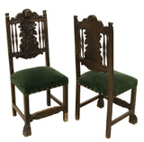 Charming Spanish Renaissance Revival Armchair and Sidechairs!!! - Old Europe Antique Home Furnishings