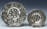 Silver Bowls, Two, Ornate Floral Repousse 900,Gorgeous Pieces, Beautiful Decor!! - Old Europe Antique Home Furnishings