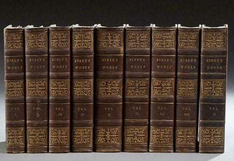 "Books- ""The Works of Edmund Burke,"" 1839, Boston, in nine volumes - Old Europe Antique Home Furnishings"