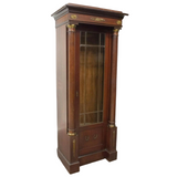 Vitrine Cabinet, Display Empire Style Mahogany, Vintage, Gorgeous Vitrine!! - Old Europe Antique Home Furnishings