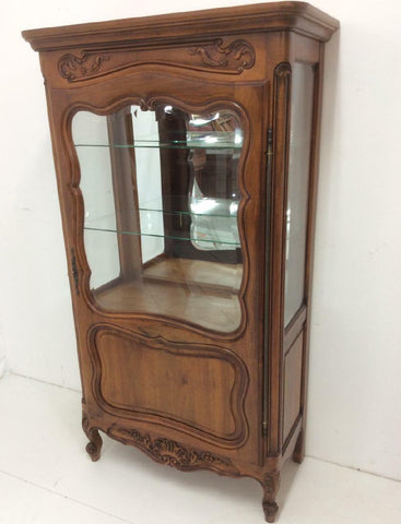 Vitrine Cabinet, Display Empire Style Mahogany, Vintage, Gorgeous Piece!! - Old Europe Antique Home Furnishings