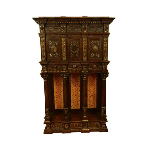 Antique Cabinet, Cupboard, Century Italian Tuscan Renaissance Style 1700s!! - Old Europe Antique Home Furnishings