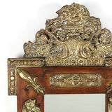Antique Mirror, Ornate, Continental Repousse, Pine, 1800s, Gorgeous - Old Europe Antique Home Furnishings