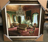 Painting, Signed, Hungarian Aristocrate Home, Oil on Canvas, Gorgeous Colors!! - Old Europe Antique Home Furnishings