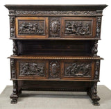Sideboard, Italian Renaissance Revival, Figural Early 1900s, Handsome Vintage! - Old Europe Antique Home Furnishings