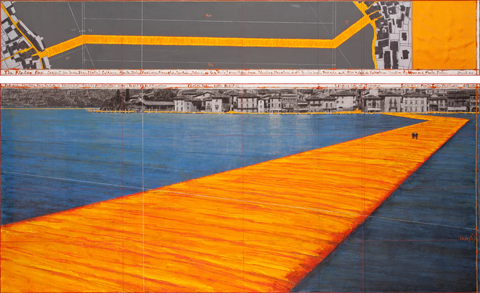 Christo and Jeanne-Claude Floating Pier Sketch