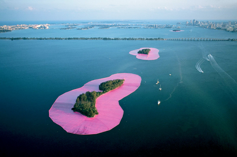 Christo and Jeanne Claude surrounded islands