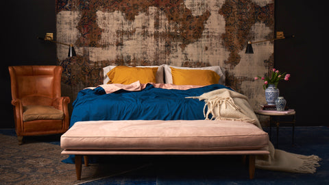 forbes interview with Flaneur bedding, estee stanley, brigette, bohemian collection, lookbook