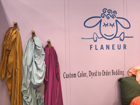 Flaneur custom color, dyed to order bedding