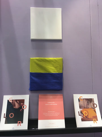 Art installation showing color inspiration