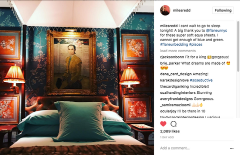 miles redd legendary bedroom with Flaneur sheets