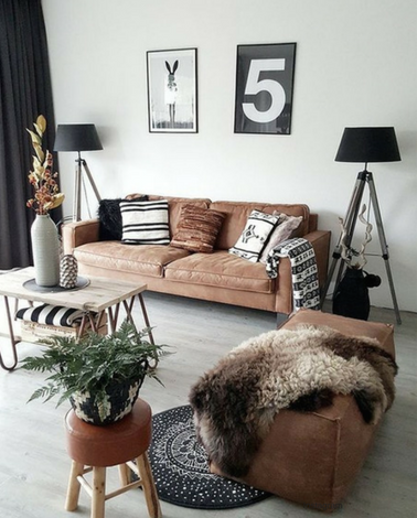Brown Sitting Room Setup, winter design, brown tones, how to style brown shades, neutral tones,