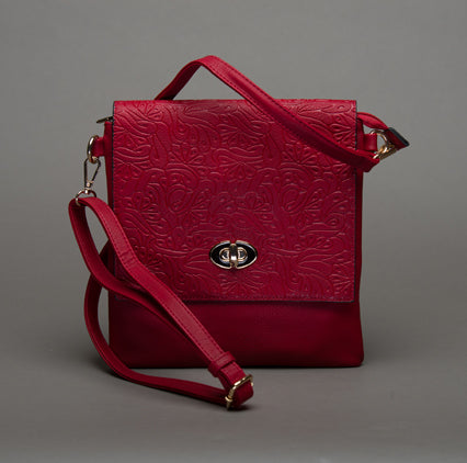 Embossed Satchel